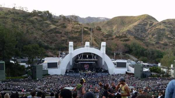 Hollywood Bowl, secção: T1, fila: 18, lugar: 44