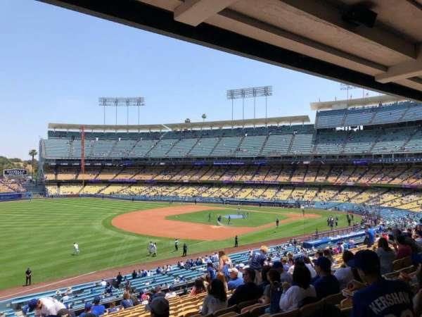 Dodger Stadium, secção: 155LG, fila: P, lugar: 4