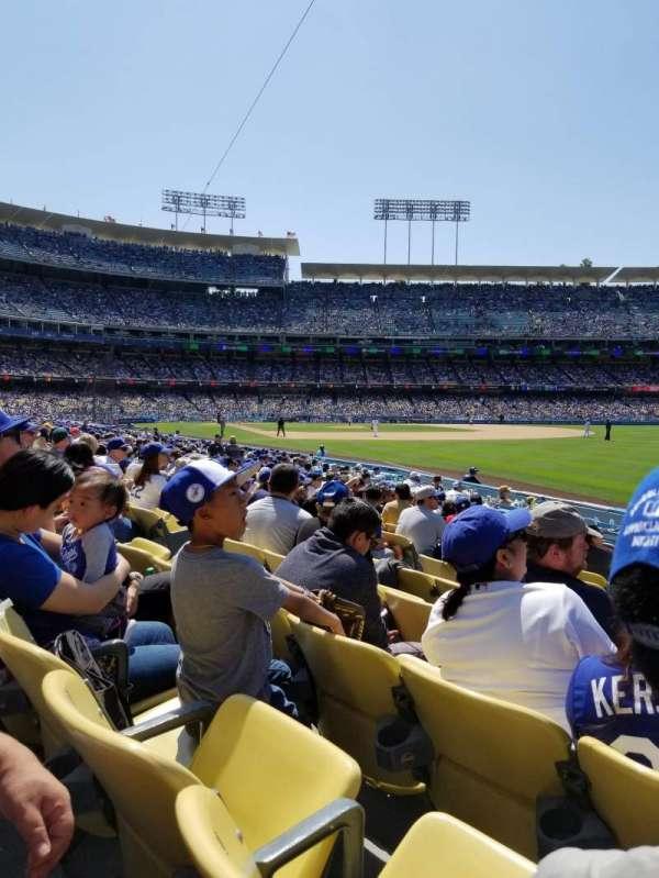 Dodger Stadium, secção: 46FD, fila: K, lugar: 9