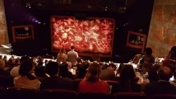 Minskoff Theatre, secção: Mezzanine, fila: K, lugar: 138