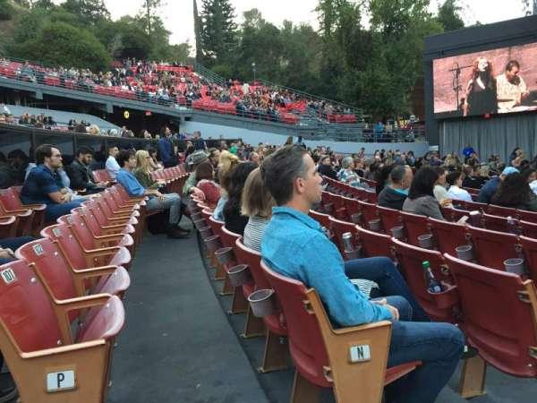 The Greek Theatre, secção: A, fila: P, lugar: 101