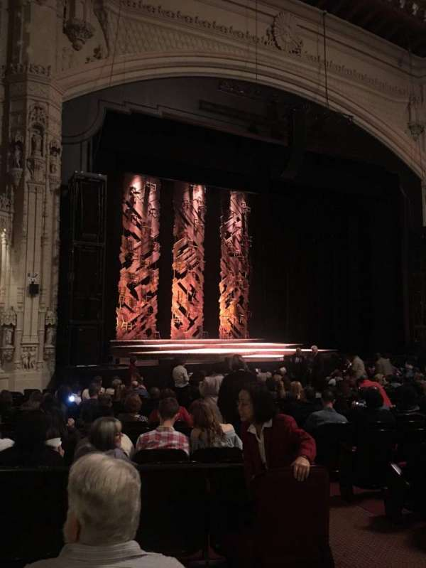 Orpheum Theatre (San Francisco), secção: Orchestra L, fila: U, lugar: 5