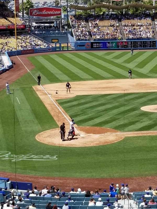 Dodger Stadium, secção: 118LG, fila: W, lugar: 2