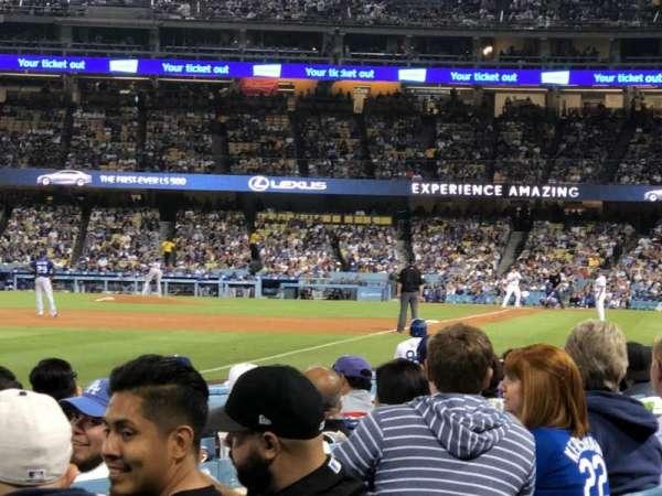 Dodger Stadium, secção: 45FD, fila: A, lugar: 20