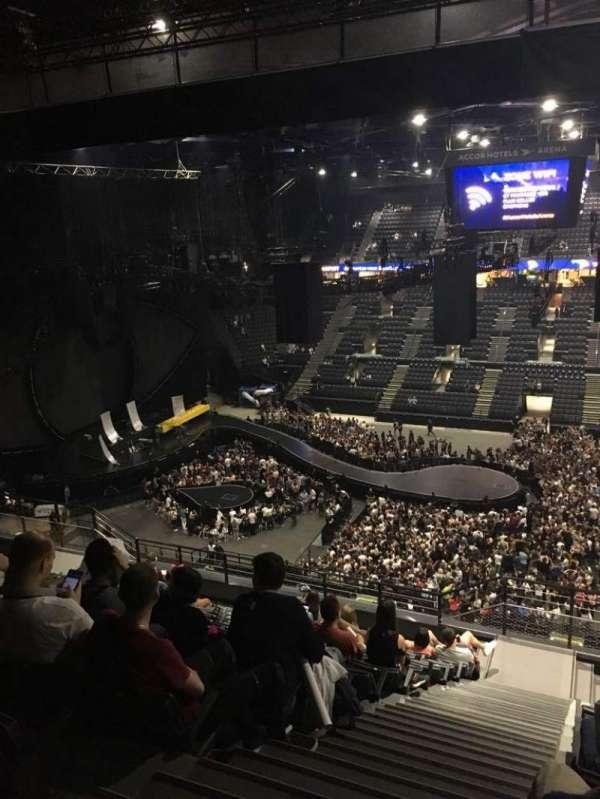 AccorHotels Arena, secção: P, fila: 93, lugar: 10