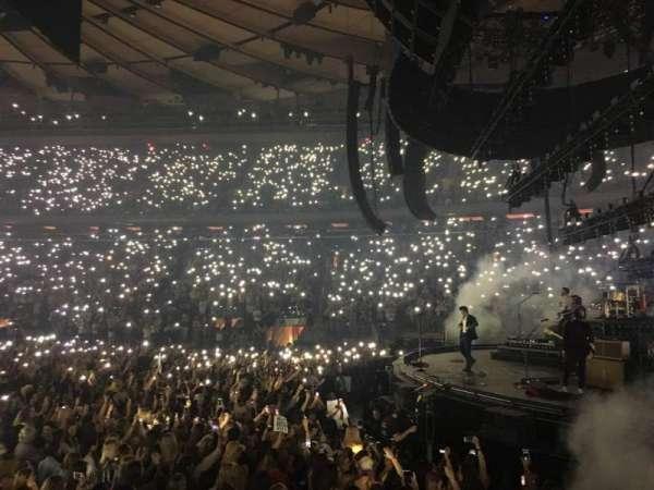 Madison Square Garden, secção: 109, fila: 4, lugar: 6