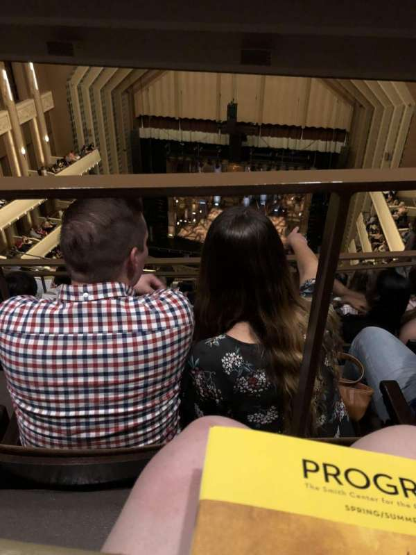 Reynolds Hall at The Smith Center, secção: Balcony, fila: K, lugar: 233
