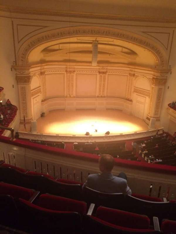 Carnegie Hall, secção: Dress Circle LC, fila: DD, lugar: 11