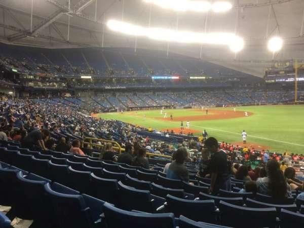 Tropicana Field, secção: 138, fila: JJ, lugar: 11