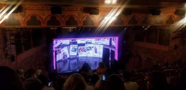 August Wilson Theatre, secção: Mezzanine L, fila: O, lugar: 11