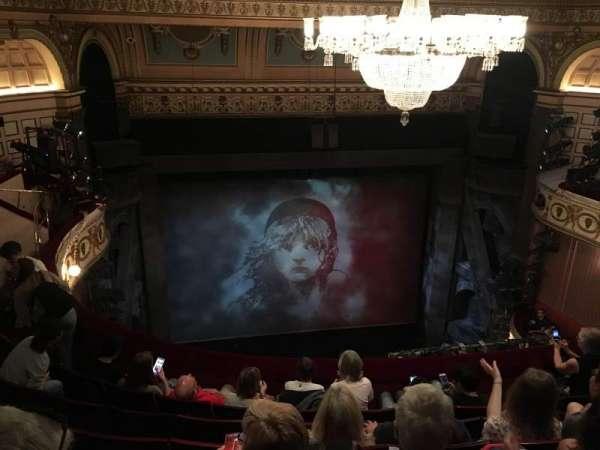 Queen's Theatre, secção: Upper Circle, fila: F, lugar: 11