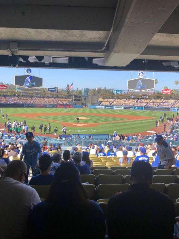 Dodger Stadium, secção: 2FD, fila: DR, lugar: 2