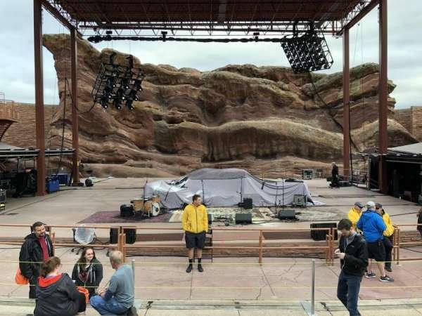 Red Rocks Amphitheatre, fila: 6, lugar: 50