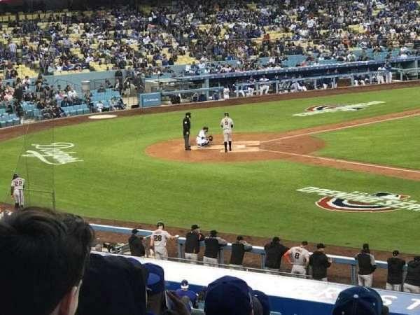 Dodger Stadium, secção: 140LG, fila: J, lugar: 19