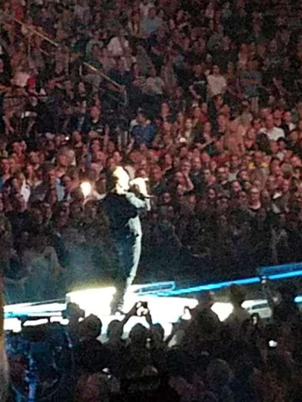 Madison Square Garden, secção: 114, fila: 12, lugar: 8