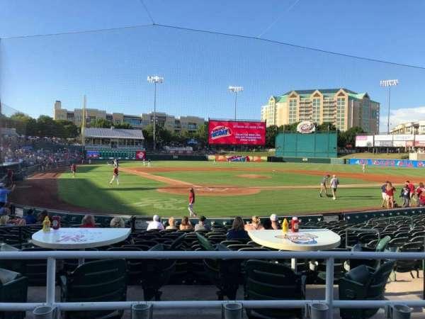 Dr Pepper Ballpark, secção: 114, fila: 15, lugar: 6