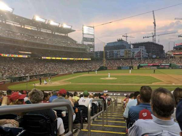 Nationals Park, secção: 129, fila: X, lugar: 18