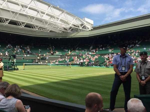 Wimbledon, Centre Court, secção: Gangway 101, fila: C, lugar: 9