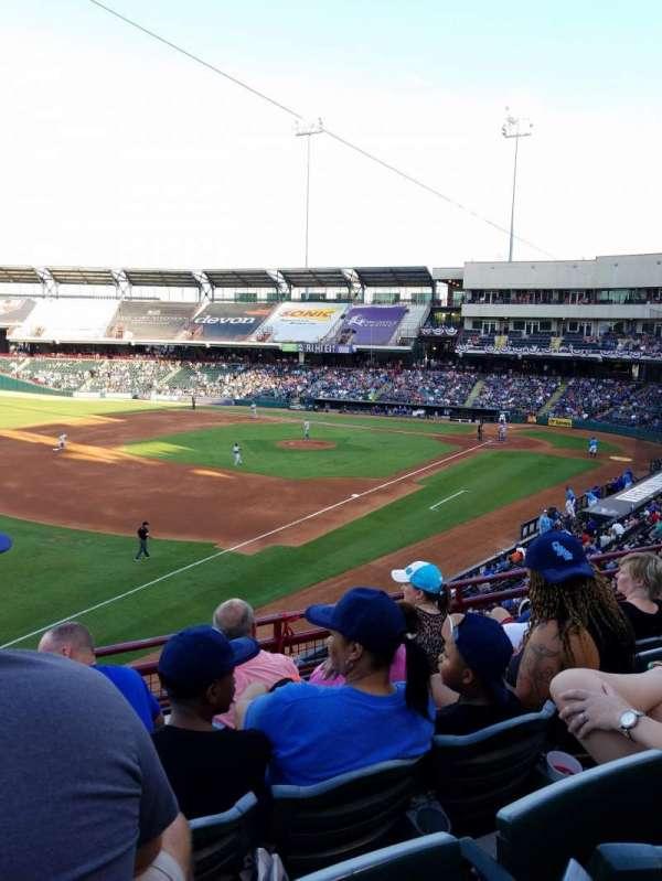 Chickasaw Bricktown Ballpark, secção: 200, fila: C, lugar: 14