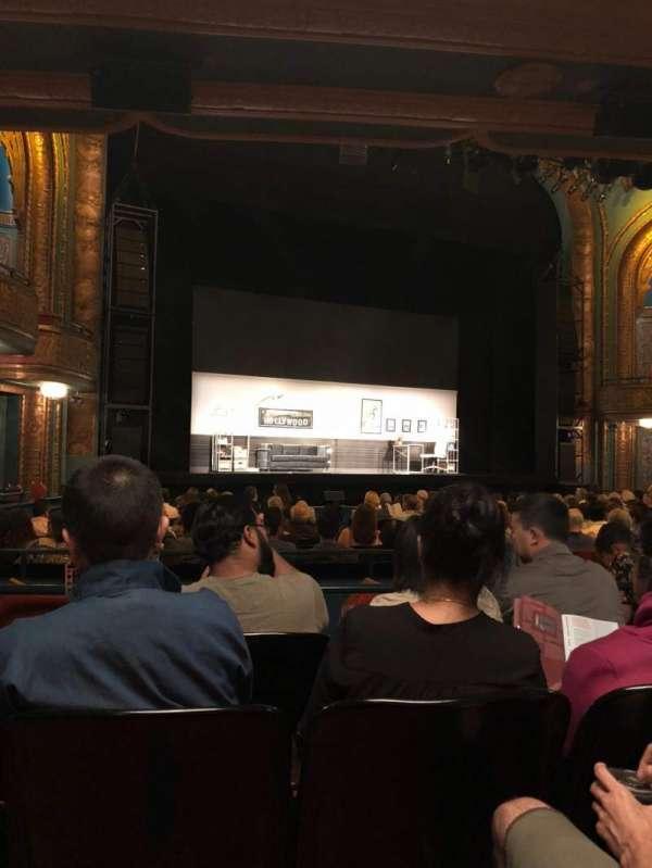 Curran Theater, secção: Orchestra, fila: S, lugar: 15