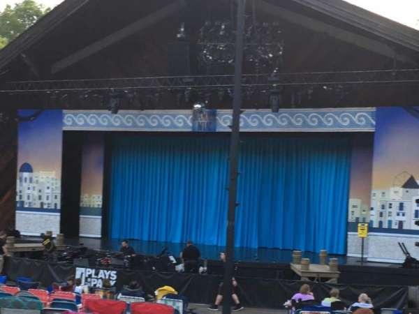 Stephen J. Capestro Amphitheater, secção: Center, fila: Third To Back Row, lugar: Aisle