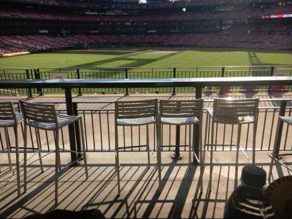 Busch Stadium, secção: Homers Landing, fila: B, lugar: 25
