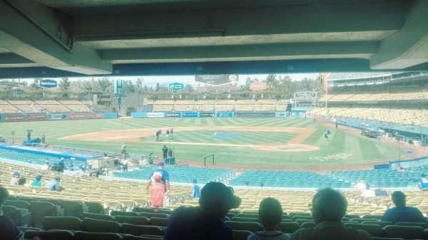 Dodger Stadium, secção: 7FD, fila: DR, lugar: 4