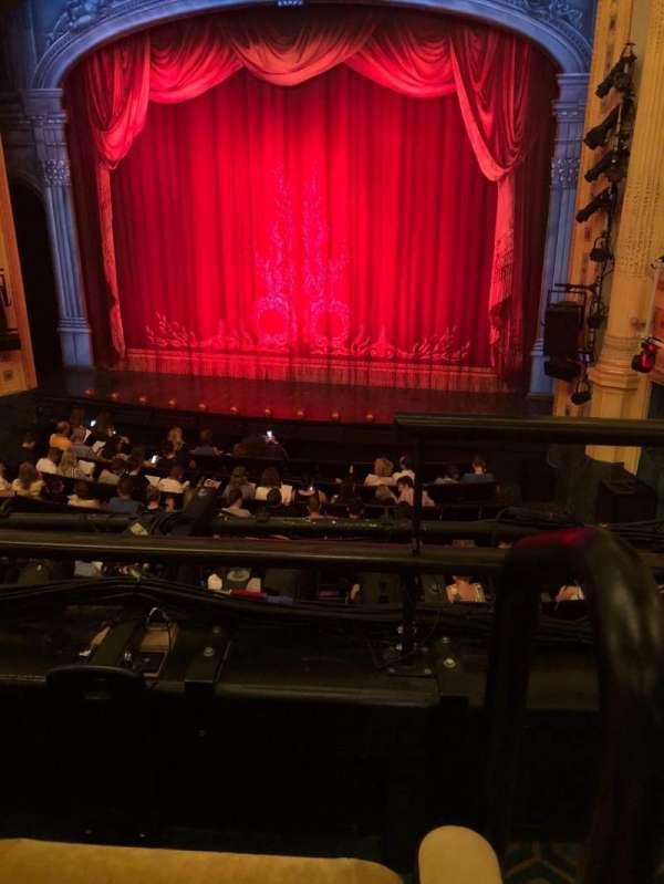 Hudson Theatre, secção: Dress Circle C, fila: B, lugar: 115