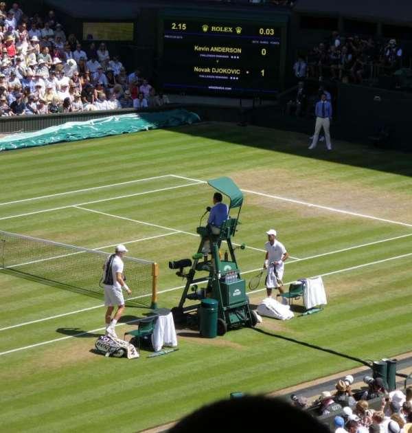 Wimbledon, Centre Court, secção: Gangway 506, fila: Z, lugar: 142
