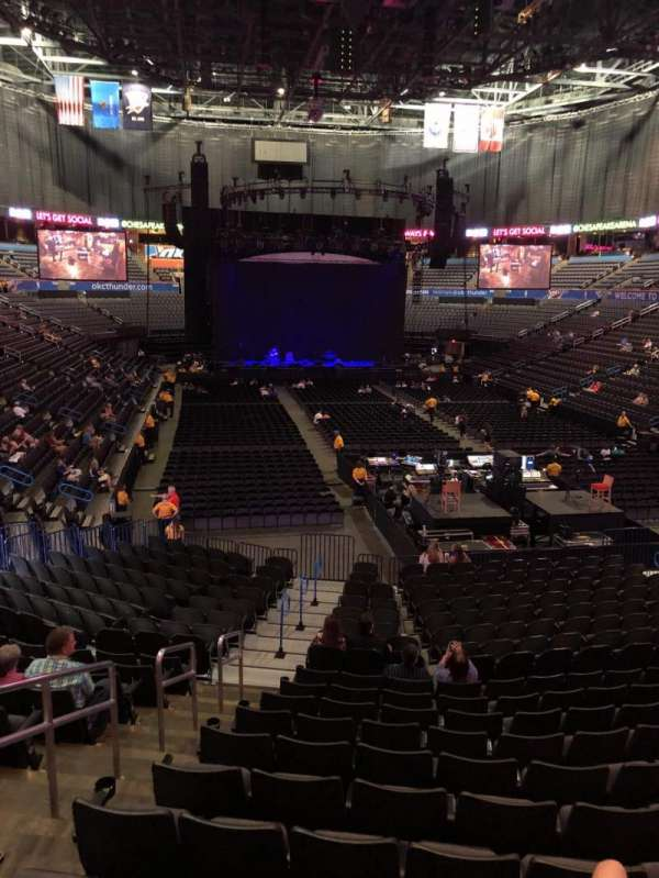 Chesapeake Energy Arena, secção: 101, fila: U, lugar: 19