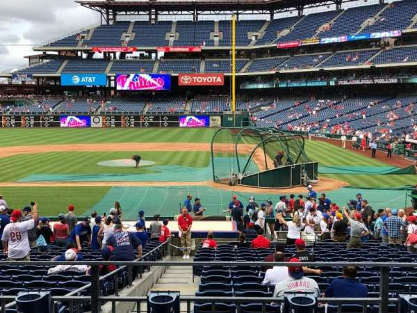 Citizens Bank Park, secção: 128, fila: 23, lugar: 5