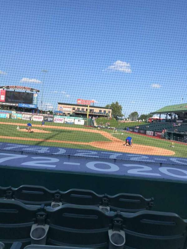 Four Winds Field, secção: 113, fila: F, lugar: 1