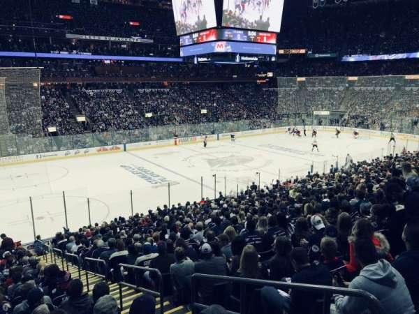 Nationwide Arena, secção: 106, fila: Y, lugar: 1