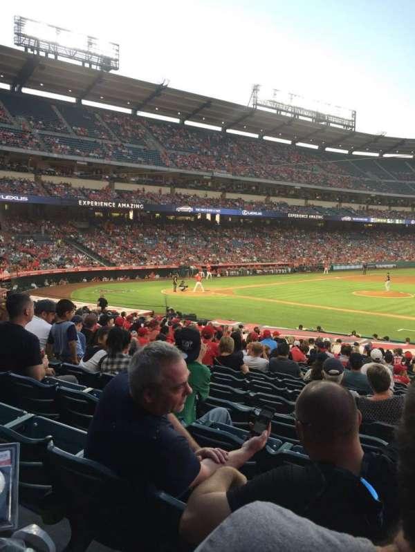 Angel Stadium, secção: F125, fila: Y, lugar: 12