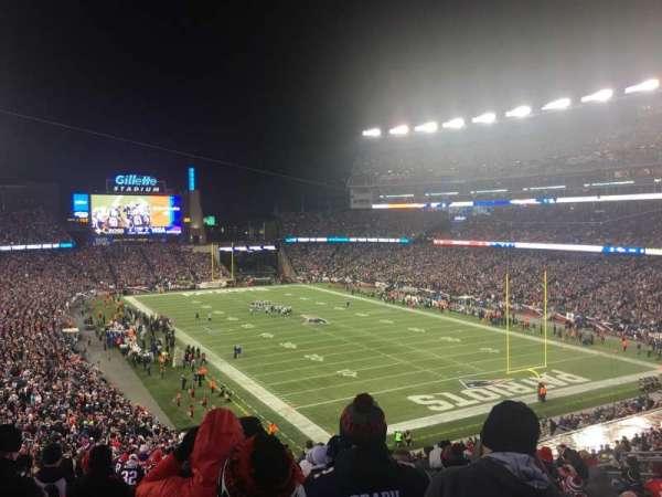 Gillette Stadium, secção: 223, fila: 17