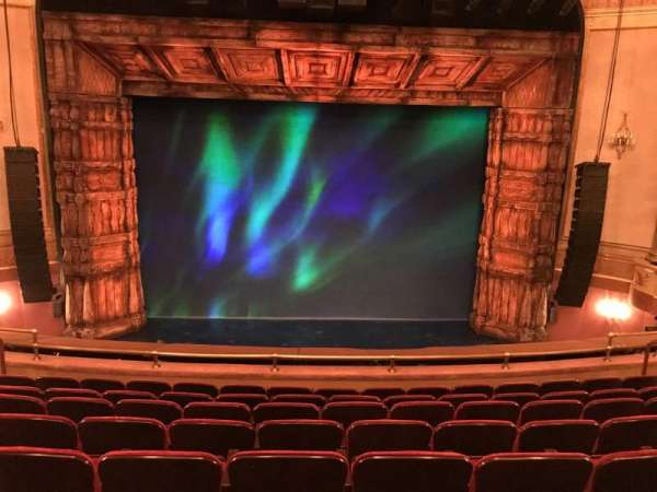 St. James Theatre, secção: Mezzanine, fila: H, lugar: 109