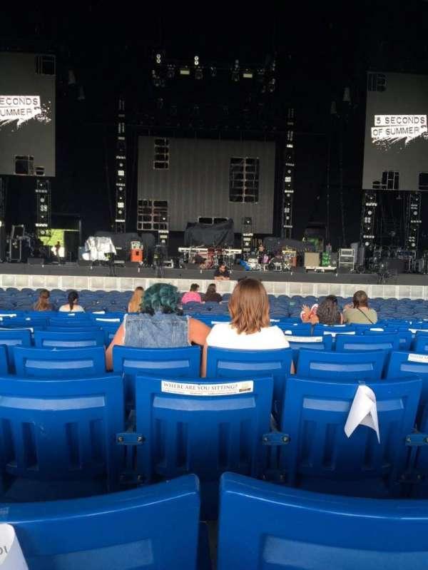 PNC Music Pavilion, secção: 2, fila: S, lugar: 22