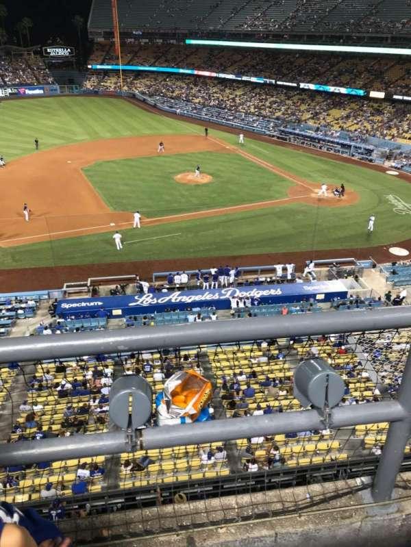 Dodger Stadium, secção: 19RS, fila: A, lugar: 21