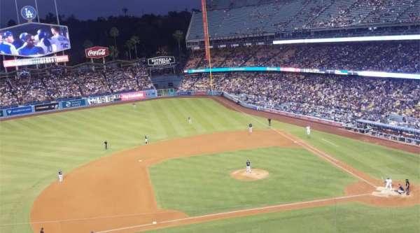 Dodger Stadium, secção: 19RS, fila: E, lugar: 3