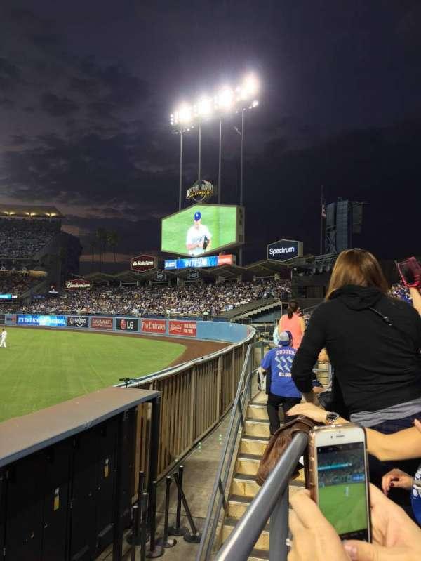 Dodger Stadium, secção: 304PL, fila: A, lugar: 1-5