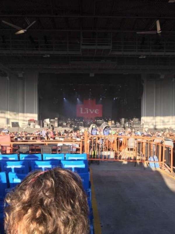 PNC Music Pavilion, secção: 7, fila: P, lugar: 1