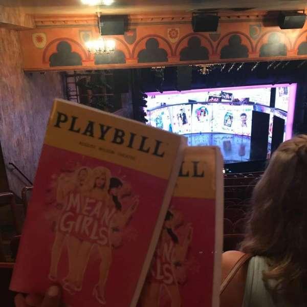 August Wilson Theatre, secção: Mezzanine L, fila: Q, lugar: 17,19