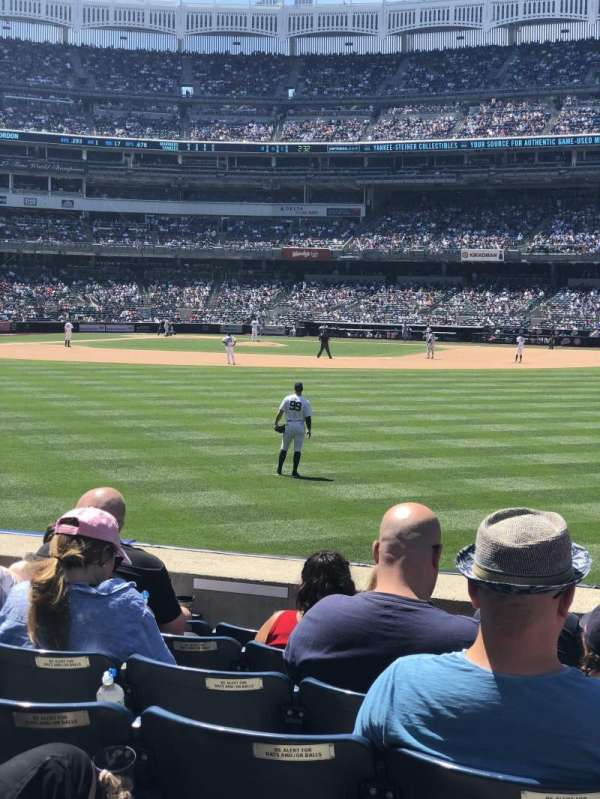 Yankee Stadium, secção: 105, fila: 7, lugar: 7