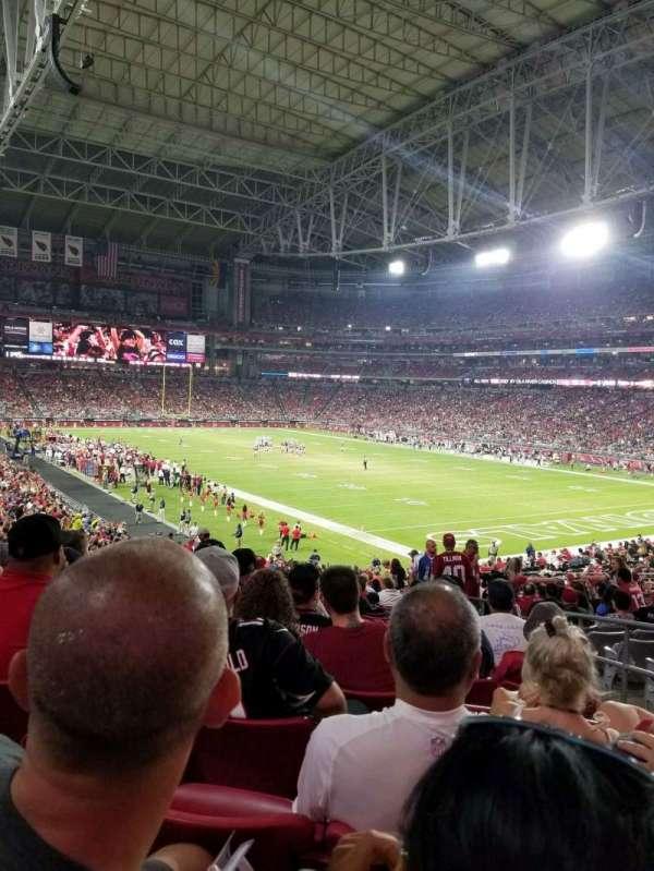 State Farm Stadium, secção: 102, fila: 36, lugar: 4