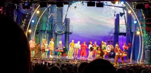 Palace Theatre (Broadway), secção: Rear Orchestra Center, fila: Y, lugar: 118