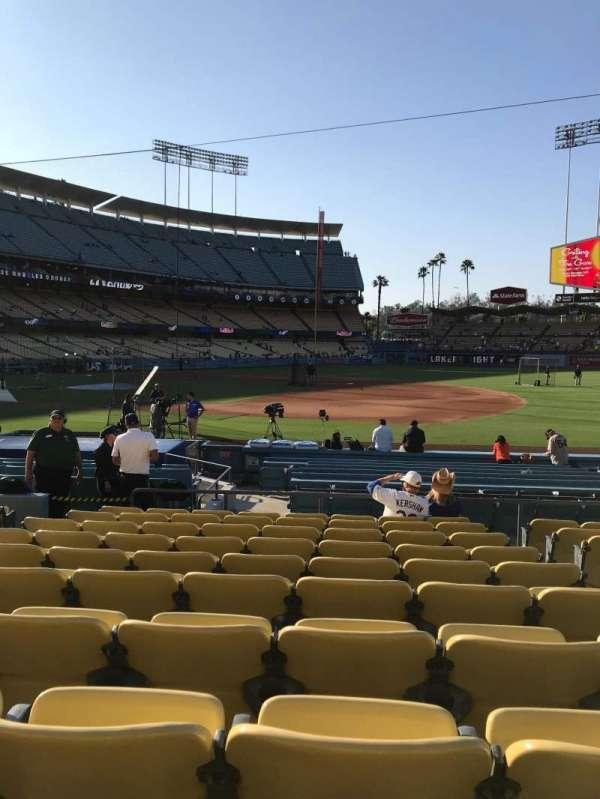 Dodger Stadium, secção: 26FD, fila: K, lugar: 8