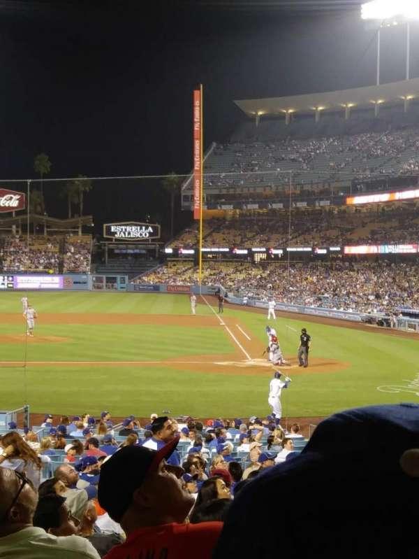 Dodger Stadium, secção: 11FD, fila: U, lugar: 3