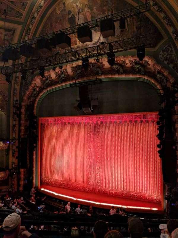 New Amsterdam Theatre, secção: Mezzanine R, fila: DD, lugar: 12