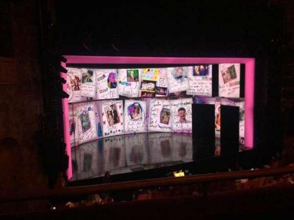 August Wilson Theatre, secção: Mezzanine L, fila: B, lugar: 11