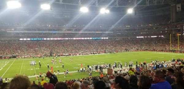 State Farm Stadium, secção: 133, fila: 34, lugar: 16